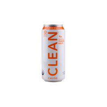 Clean Cause Orange Ginger Zero Calorie Organic Sparkling Yerba Mate
