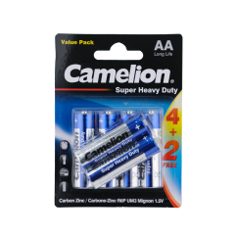 Camelion Spr Hvy Dty Batteries AA 6pcs